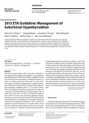 ETA Guideline Management of Subclinical Hypothyroidism